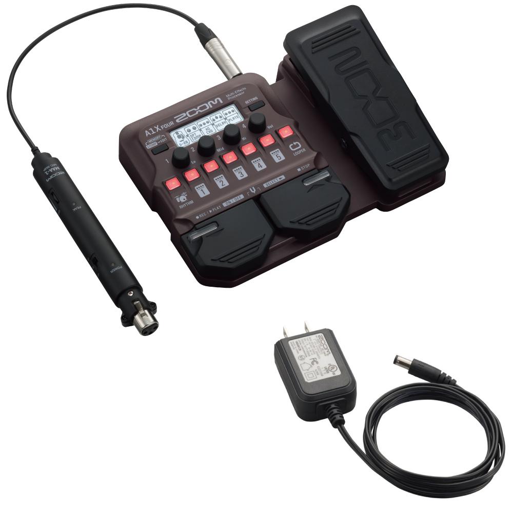 ZOOM A1X FOUR アコースティック楽器用 マルチエフェクター 純正アダプター付きセット