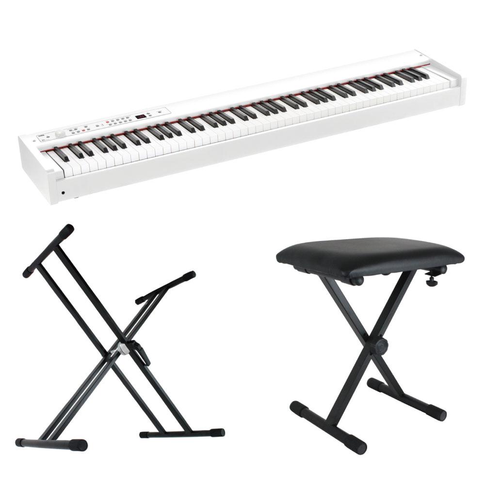 KORG D1 WH DIGITAL PIANO ホワイト 電子ピアノ X型スタンド X型ベンチ 3点セット