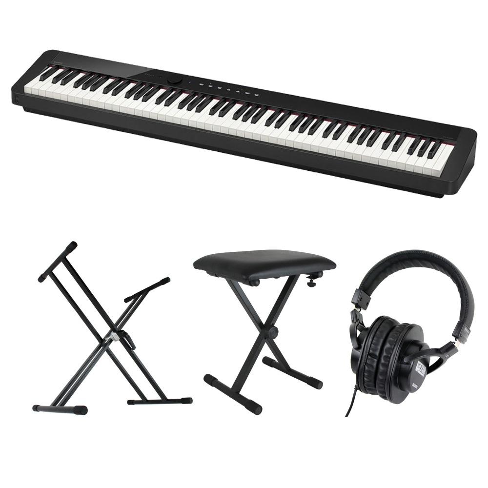 CASIO Privia PX-S1000 BK 電子ピアノ キーボードスタンド キーボードベンチ ヘッドホン 4点セット [鍵盤 Cset]