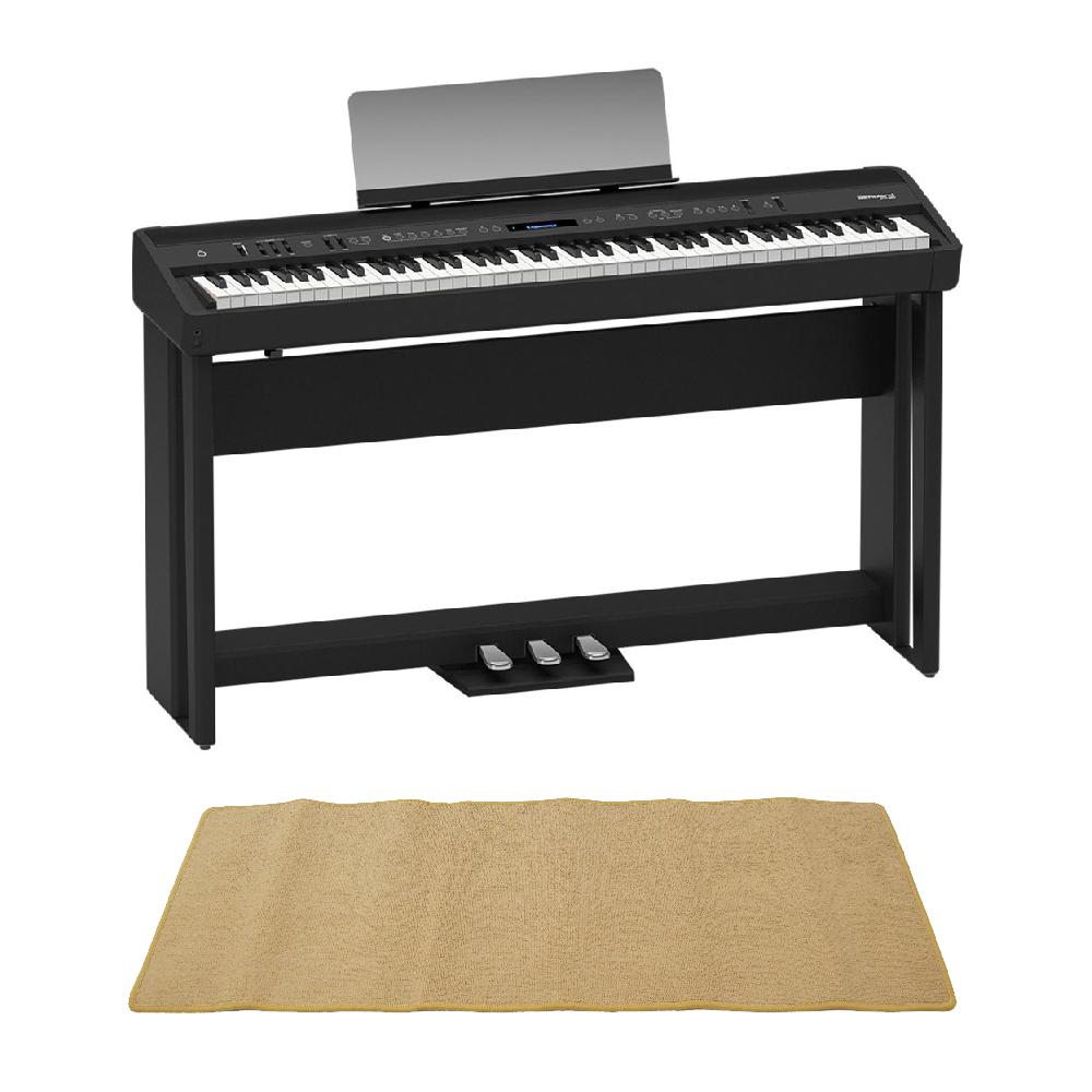 ROLAND FP-90-BK Digital Piano ブラック デジタルピアノ 純正スタンド&ペダルユニット ピアノマット(クリーム)付きセット