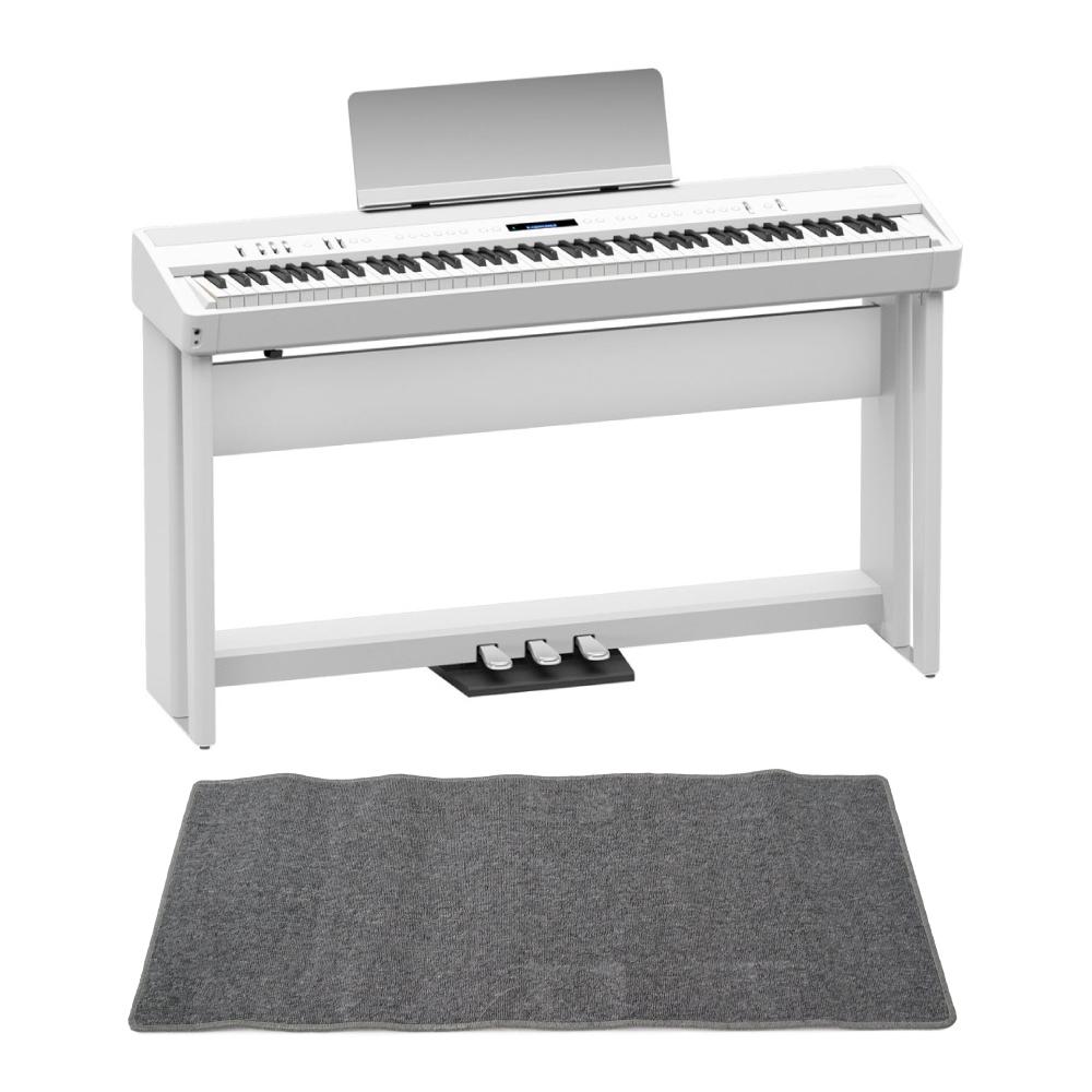 ROLAND FP-90-WH Digital Piano ホワイト デジタルピアノ 純正スタンド&ペダルユニット ピアノマット(グレイ)付きセット