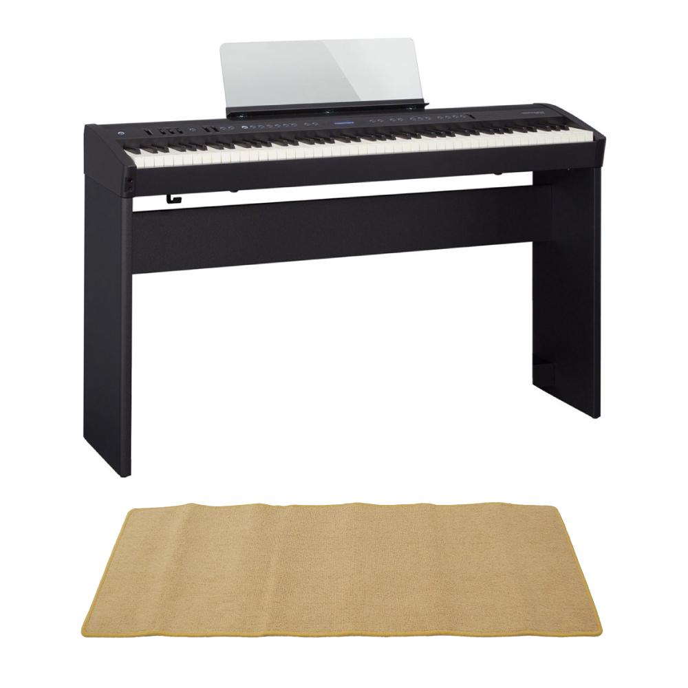 ROLAND FP-60 BK Digital Piano 電子ピアノ KSC-72 専用スタンド ピアノマット(クリーム)付きセット
