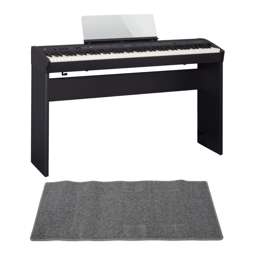 ROLAND FP-60 BK Digital Piano 電子ピアノ KSC-72 専用スタンド ピアノマット(グレイ)付きセット