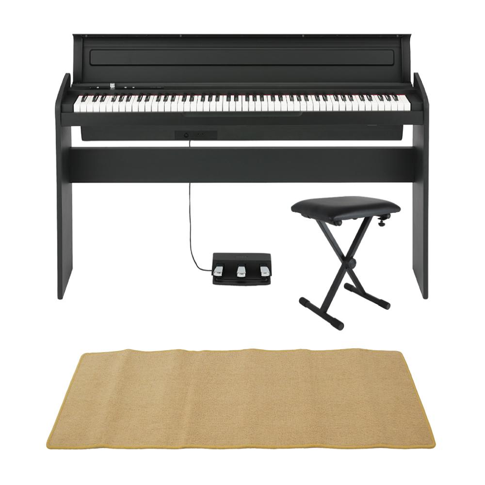 KORG LP-180 BK 電子ピアノ X型ピアノイス ピアノマット(クリーム)付きセット