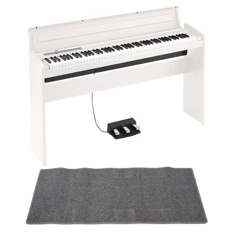 KORG LP-180 WH 電子ピアノ ピアノマット(グレイ)付きセット