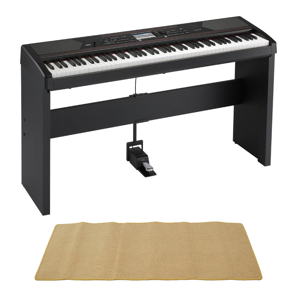 KORG アンサンブルピアノ HAVIAN 30 DIGITAL ENSEMBLE PIANO 純正スタンド ピアノマット(クリーム)付きセット