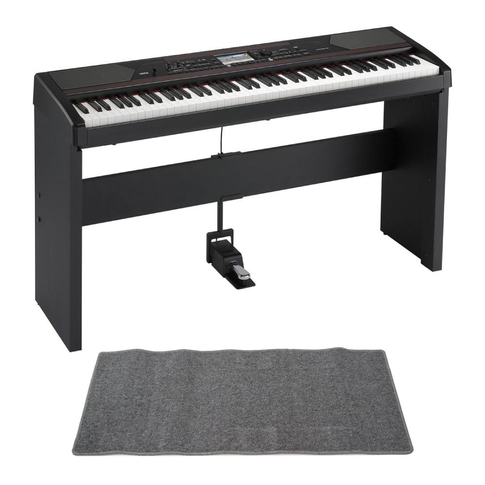 KORG アンサンブルピアノ HAVIAN 30 DIGITAL ENSEMBLE PIANO 純正スタンド ピアノマット(グレイ)付きセット