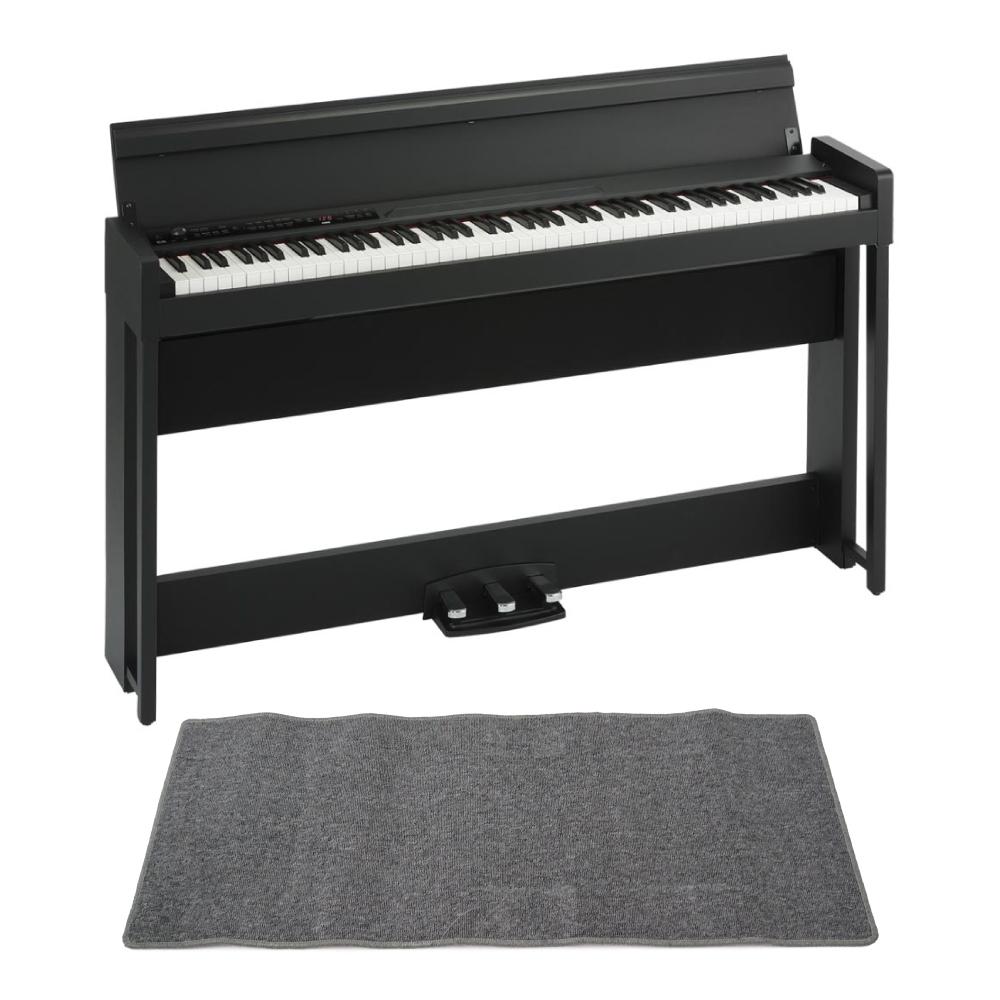 KORG C1 AIR BK 電子ピアノ ピアノマット(グレイ)付きセット