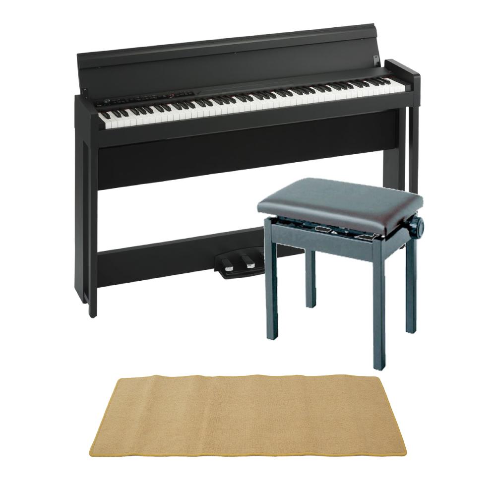 KORG C1 AIR BK 電子ピアノ KORG PC-300BK キーボードベンチ ピアノマット(クリーム)付きセット