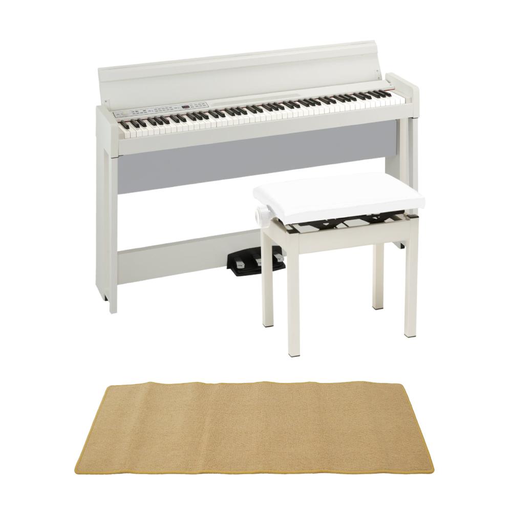 KORG C1 AIR WH 電子ピアノ KORG PC-300WH キーボードベンチ ピアノマット(クリーム)付きセット
