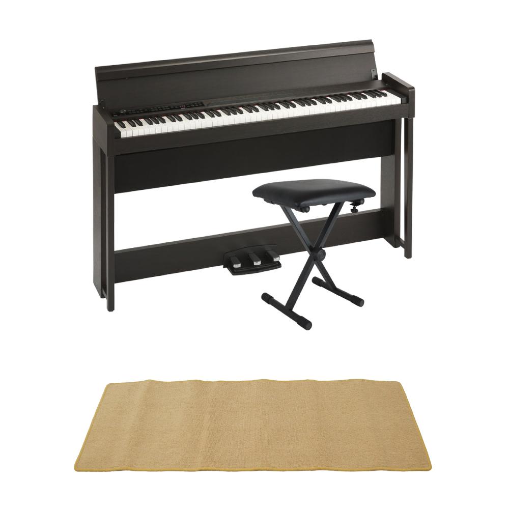 KORG C1 AIR BR 電子ピアノ Dicon Audio SB-001 キーボードベンチ ピアノマット(クリーム)付きセット