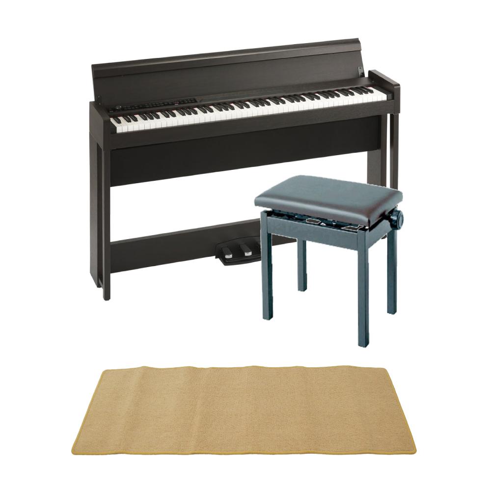 KORG C1 AIR BR 電子ピアノ KORG PC-300BK キーボードベンチ ピアノマット(クリーム)付きセット