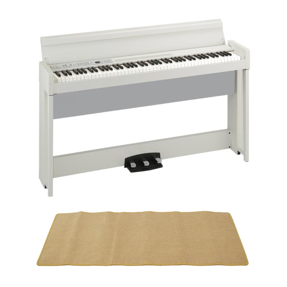 KORG C1 AIR WH 電子ピアノ ピアノマット(クリーム)付きセット