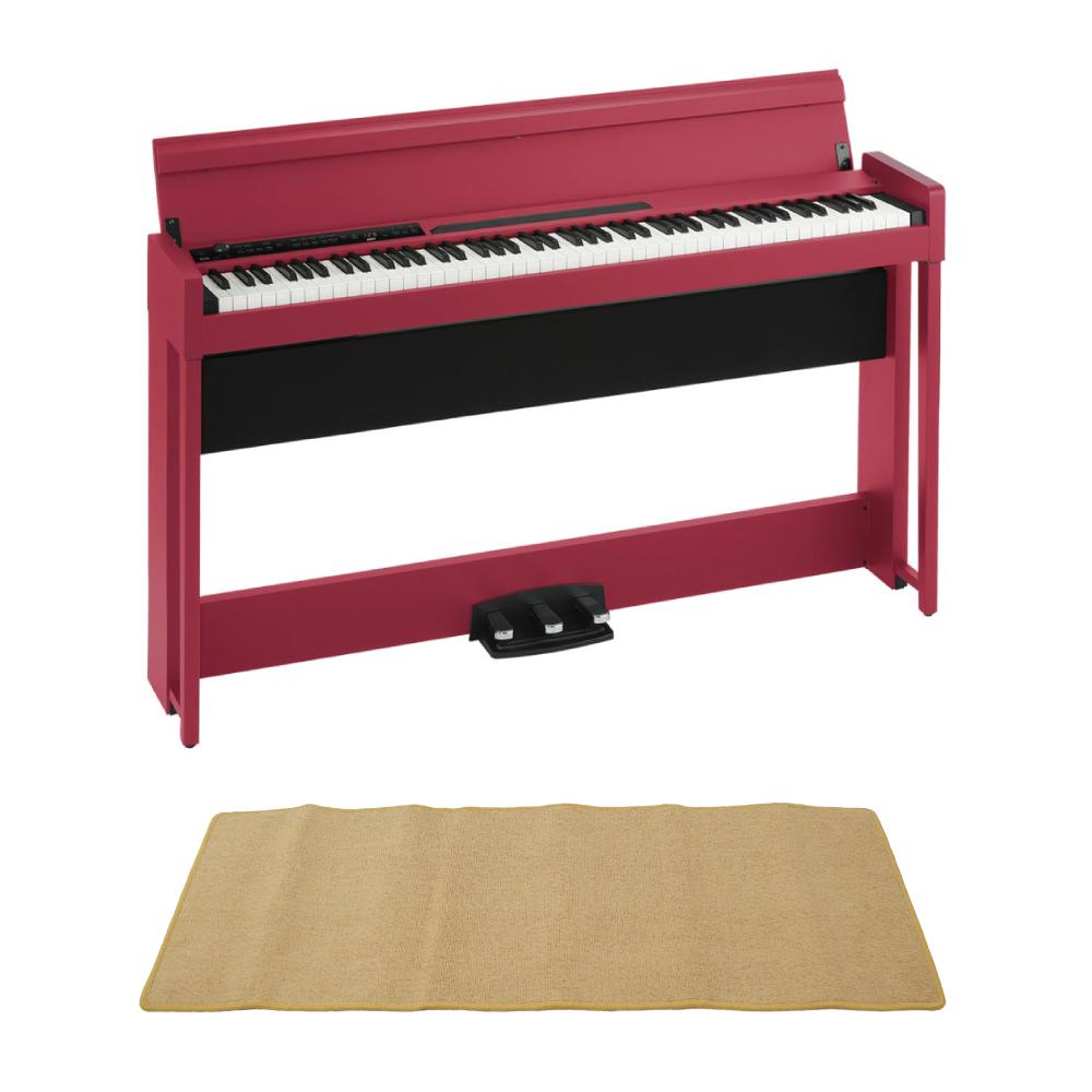 KORG C1 AIR RD 電子ピアノ ピアノマット(クリーム)付きセット
