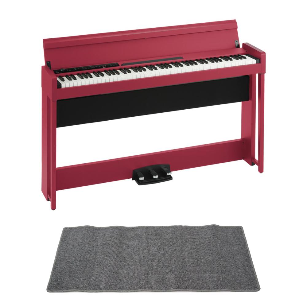 KORG C1 AIR RD 電子ピアノ ピアノマット(グレイ)付きセット