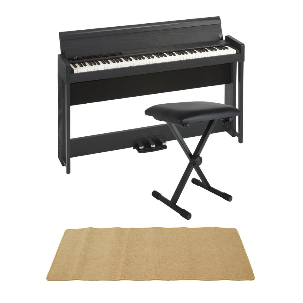 KORG C1 AIR WBK 電子ピアノ Dicon Audio SB-001 キーボードベンチ ピアノマット(クリーム)付きセット