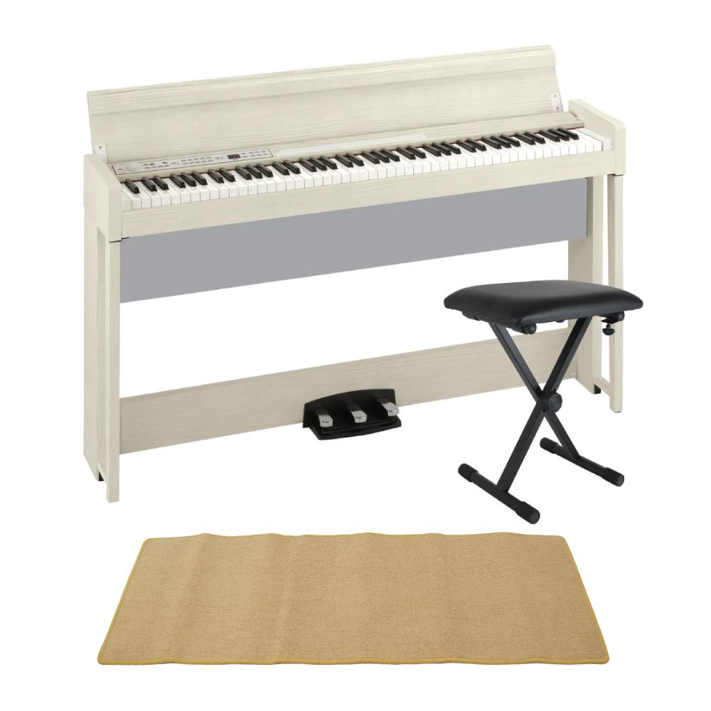 KORG C1 AIR WA 電子ピアノ Dicon Audio SB-001 キーボードベンチ ピアノマット(クリーム)付きセット