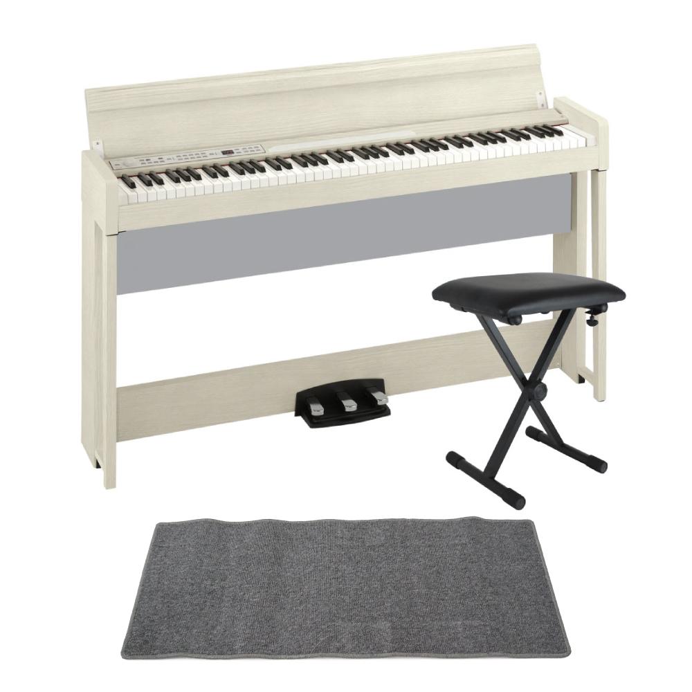 KORG C1 AIR WA 電子ピアノ Dicon Audio SB-001 キーボードベンチ ピアノマット(グレイ)付きセット