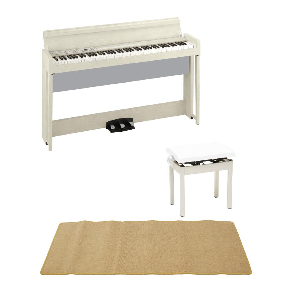 KORG C1 AIR WA 電子ピアノ KORG PC-300WH キーボードベンチ ピアノマット(クリーム)付きセット