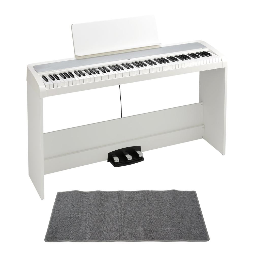 KORG B2SP WH 電子ピアノ ピアノマット(グレイ)付きセット
