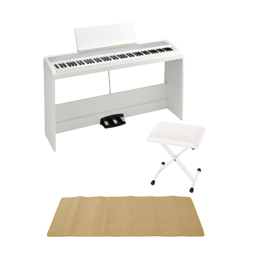 KORG B2SP WH 電子ピアノ X型椅子 ピアノマット(クリーム)付きセット