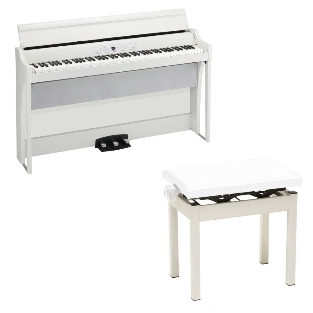 KORG G1B AIR WH 電子ピアノ PC-300BK キーボードベンチ付き