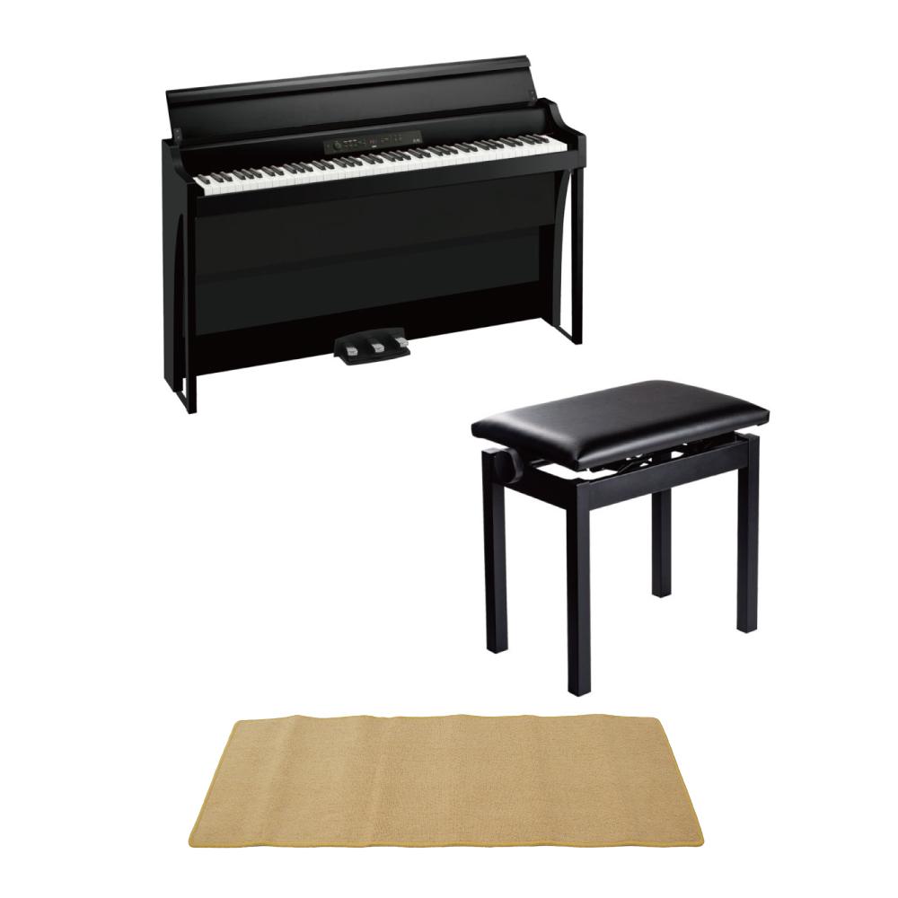 KORG G1B AIR BK 電子ピアノ PC-300BK キーボードベンチ ピアノマット(クリーム)付きセット