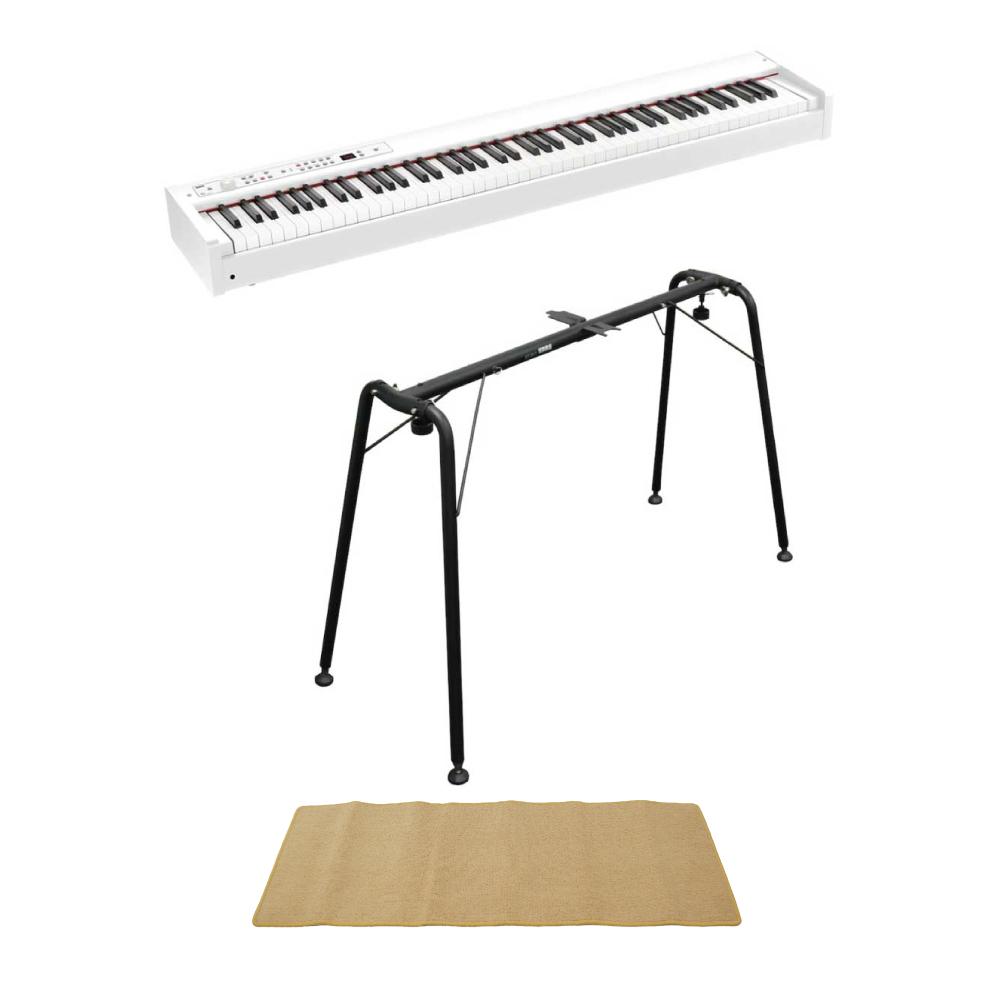 KORG D1 WH DIGITAL PIANO 電子ピアノ ホワイトカラー 純正スタンド(ST-SV1) ピアノマット(クリーム)付きセット