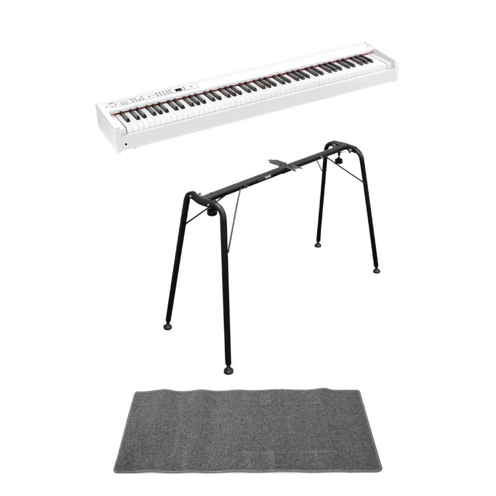 KORG D1 WH DIGITAL PIANO 電子ピアノ ホワイトカラー 純正スタンド(ST-SV1) ピアノマット(グレイ)付きセット