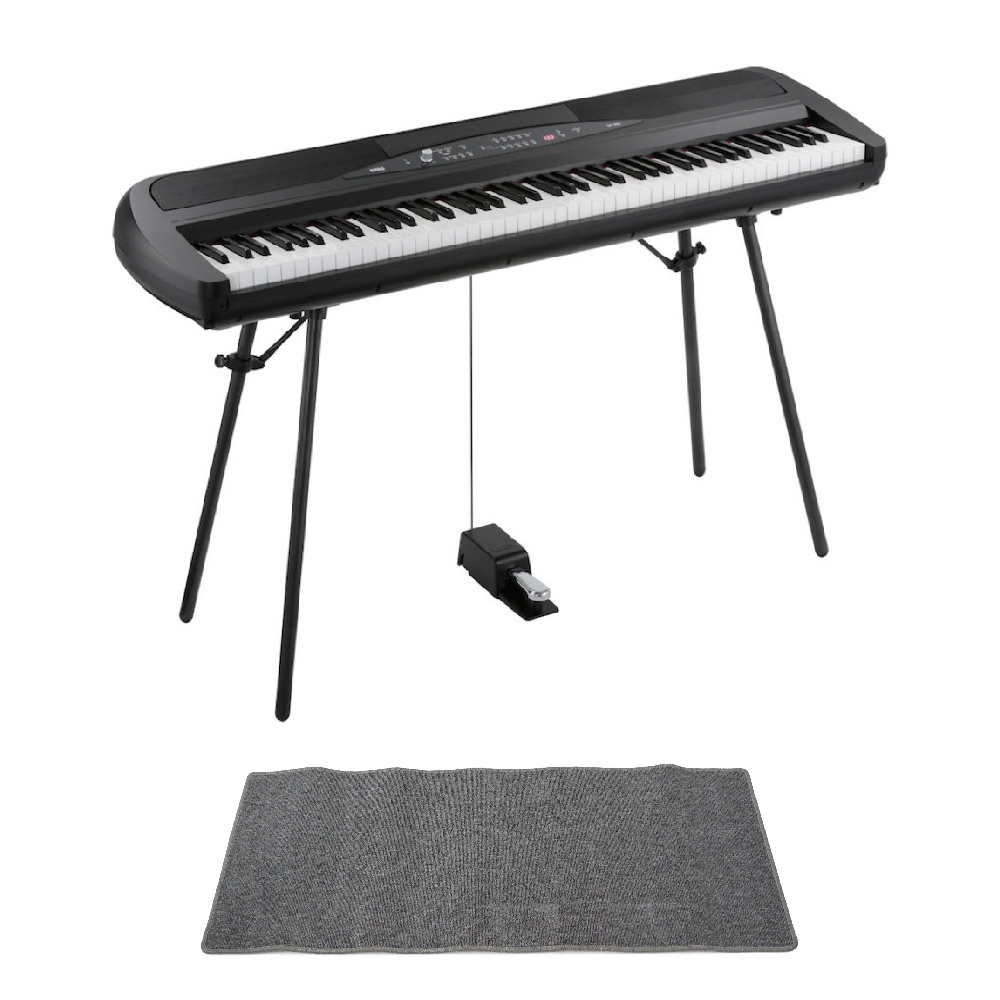 KORG SP-280 BK 電子ピアノ ピアノマット(グレイ)付きセット