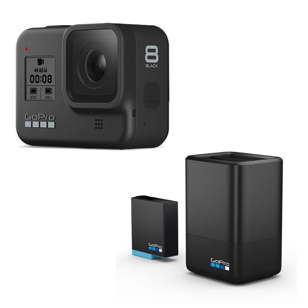 GoPro HERO8 Black ウェアラブルカメラ デュアルバッテリーチャージャー付き