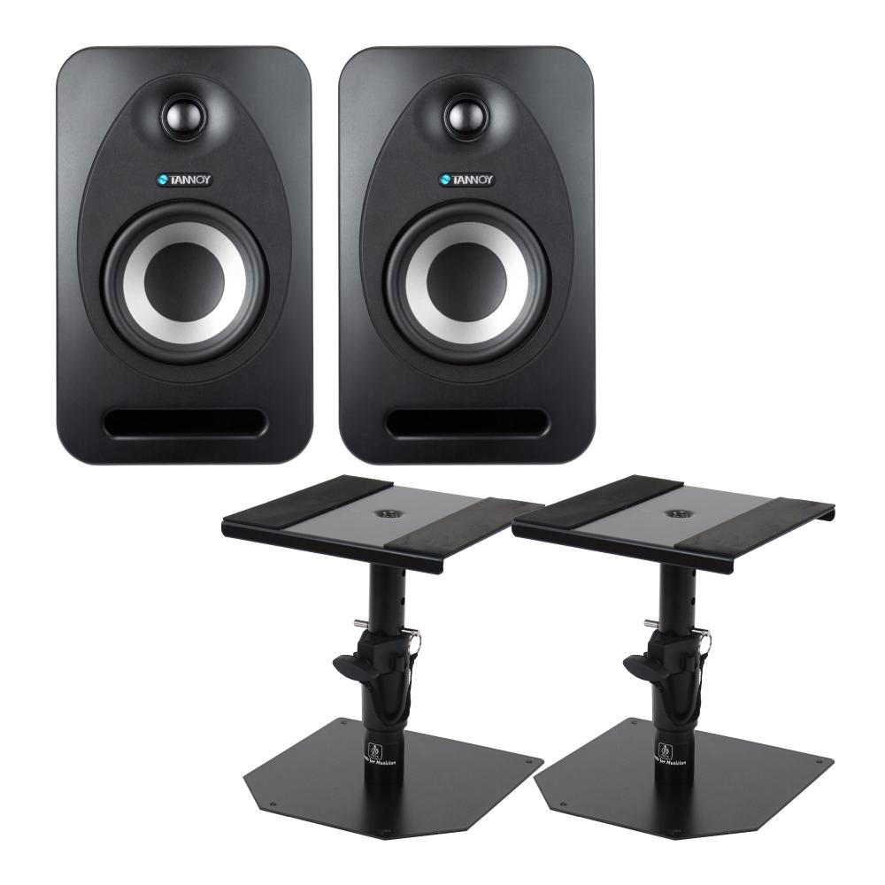 TANNOY Reveal 402 アクティブモニタースピーカー Dicon Audio SS-032R 卓上スタンド ペア セット