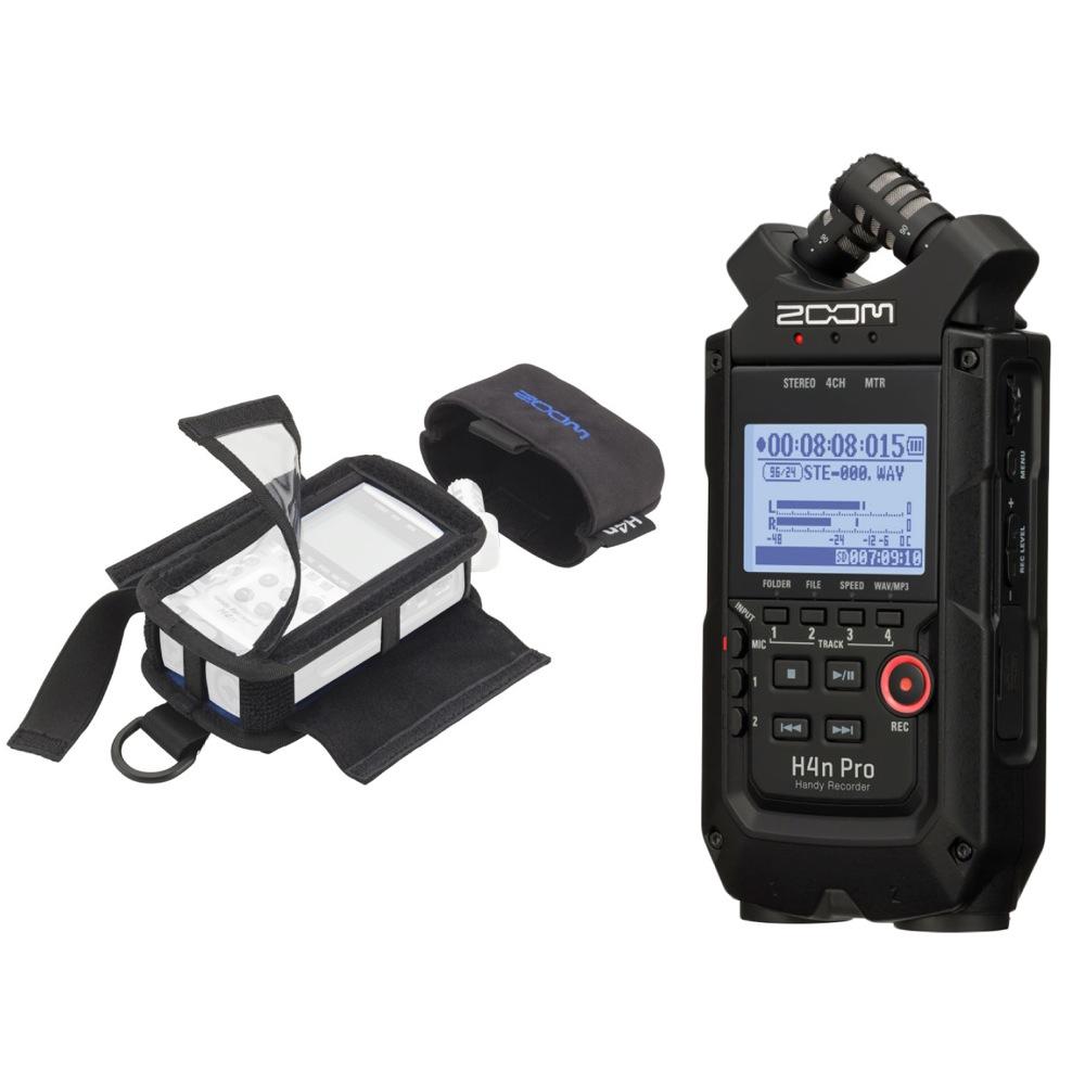ZOOM H4n Pro ALL Black Editon ハンディーレコーダー PCH-4n専用ケース付き