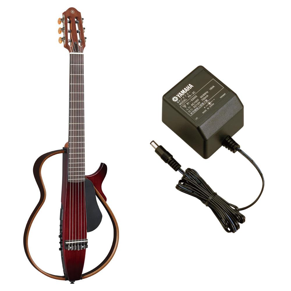 YAMAHA SLG200N CRB サイレントギター ナイロン弦モデル PA-3C 電源アダプター付きセット