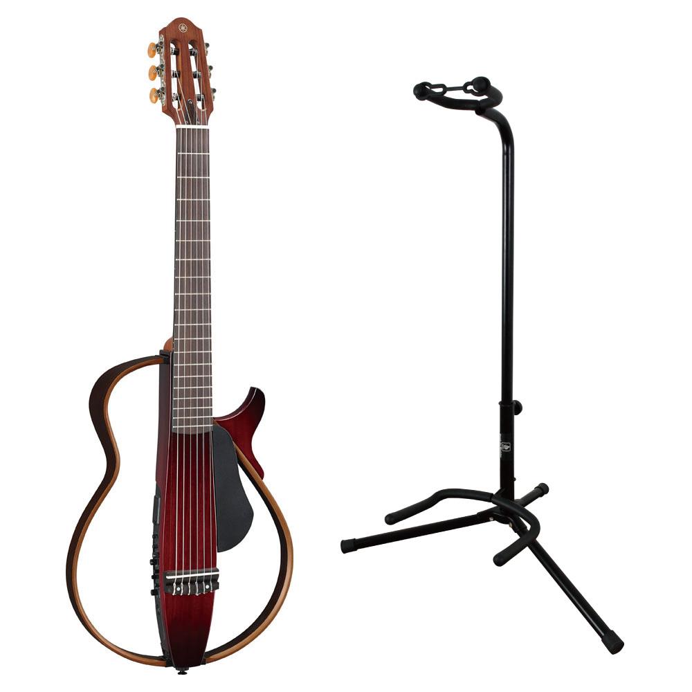 YAMAHA SLG200N CRB サイレントギター ナイロン弦モデル ギタースタンド付きセット
