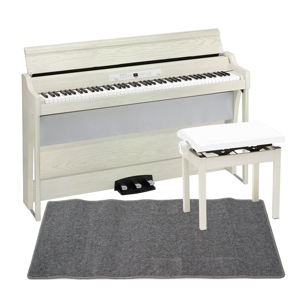 上質で快適 KORG G1B AIR WHITE ASH 電子ピアノ WHITE PC-300WH G1B 電子ピアノ キーボードベンチ ピアノマット(グレイ)付きセット, 株式会社マルシンねっとサービス:2c6db739 --- online-cv.site