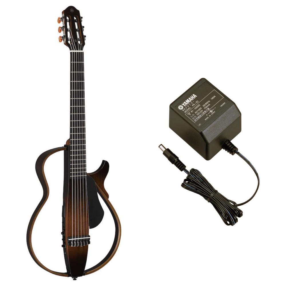 YAMAHA SLG200N TBS サイレントギター PA-3C 電源アダプター付きセット