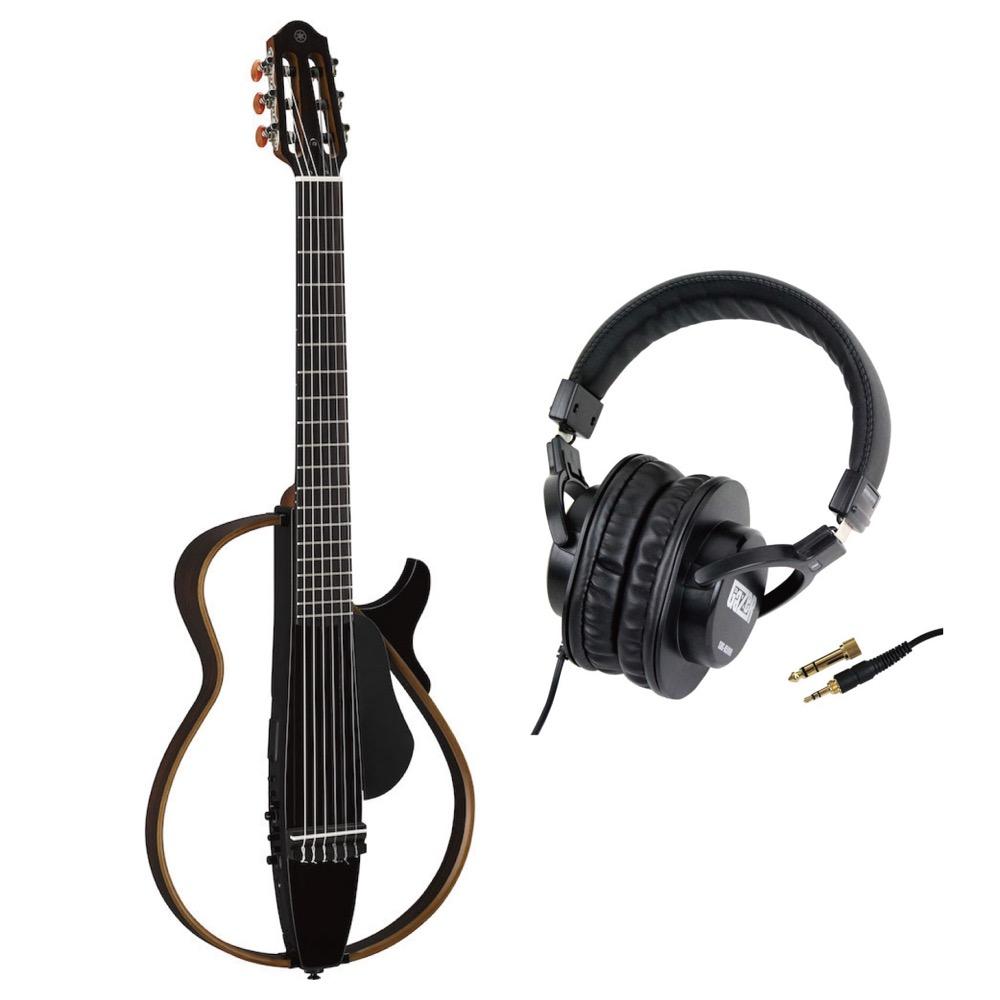 YAMAHA SLG200N TBL サイレントギター SD GAZER SDG-H5000 モニターヘッドホン付きセット