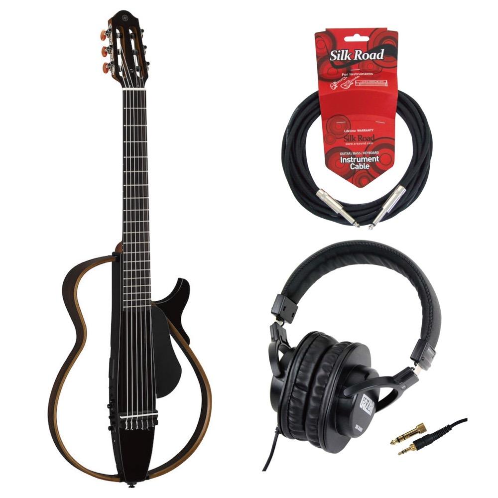 YAMAHA SLG200N TBL サイレントギター SD GAZER SDG-H5000 モニターヘッドホン ギターケーブル付きセット