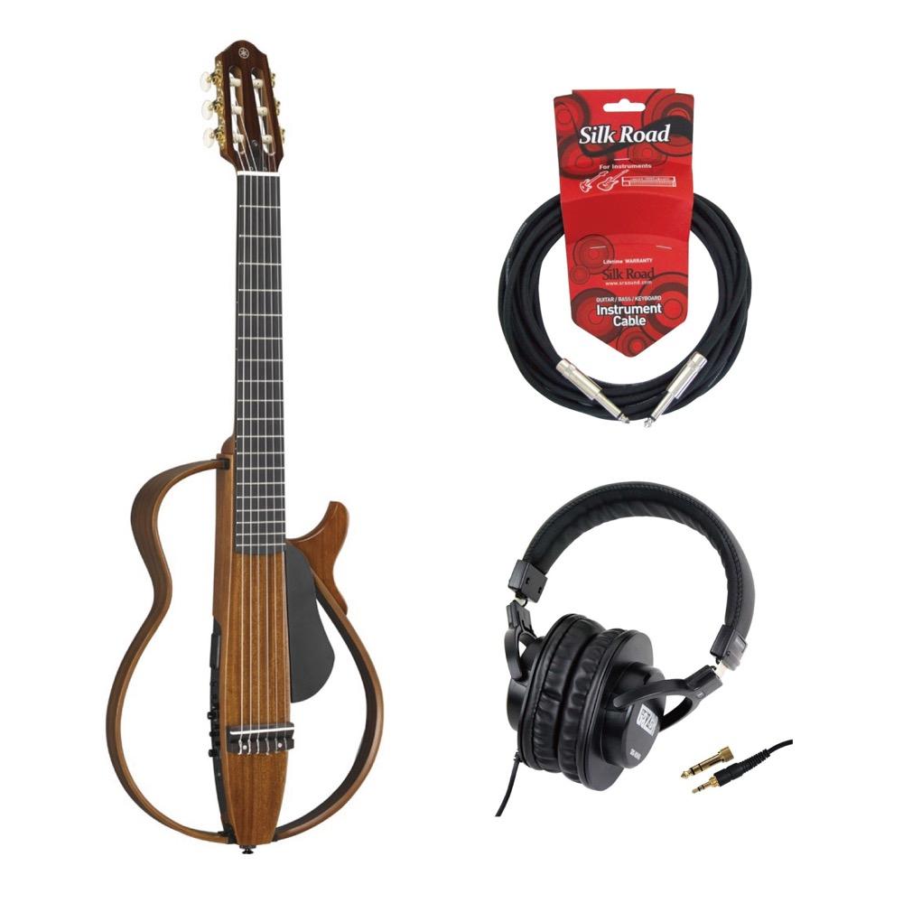 YAMAHA SLG200NW サイレントギター SD GAZER SDG-H5000 モニターヘッドホン ギターケーブル付きセット
