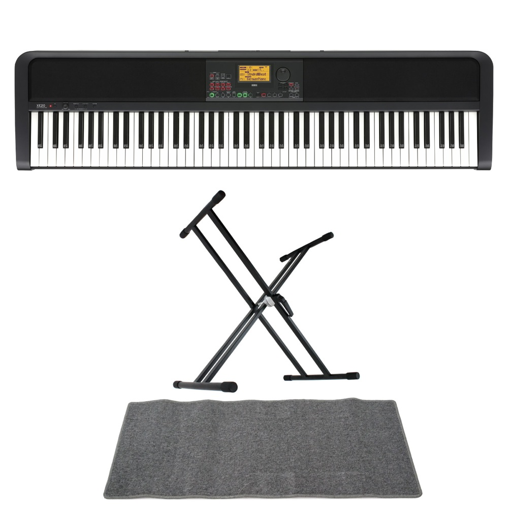 <title>コルグ 電子ピアノ スタンド マット付 KORG XE20 DIGITAL 今だけスーパーセール限定 ENSEMBLE PIANO 88鍵盤 自動伴奏機能付き マット 3点セット 鍵盤 DMset</title>