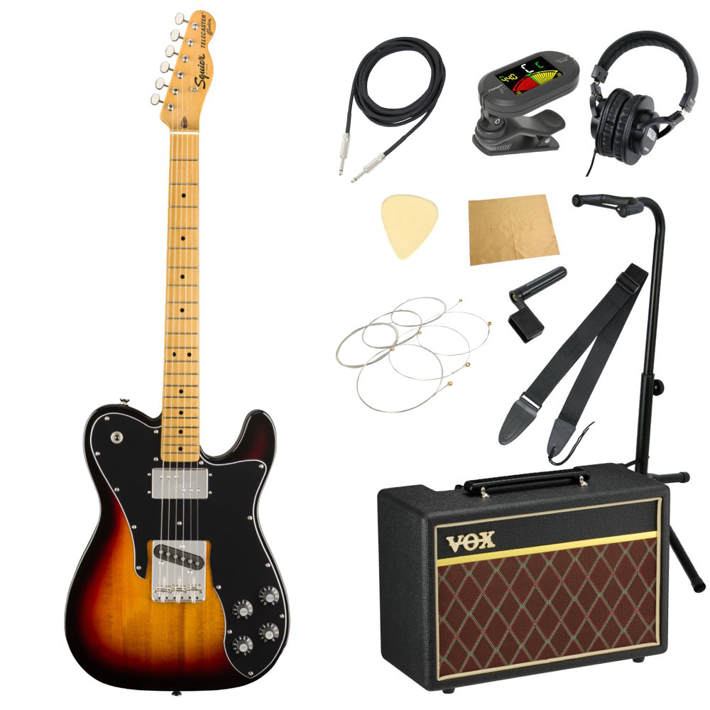 Squier Classic Vibe '70s Telecaster Custom 3TS MN エレキギター VOXアンプ付き 11点 初心者セット