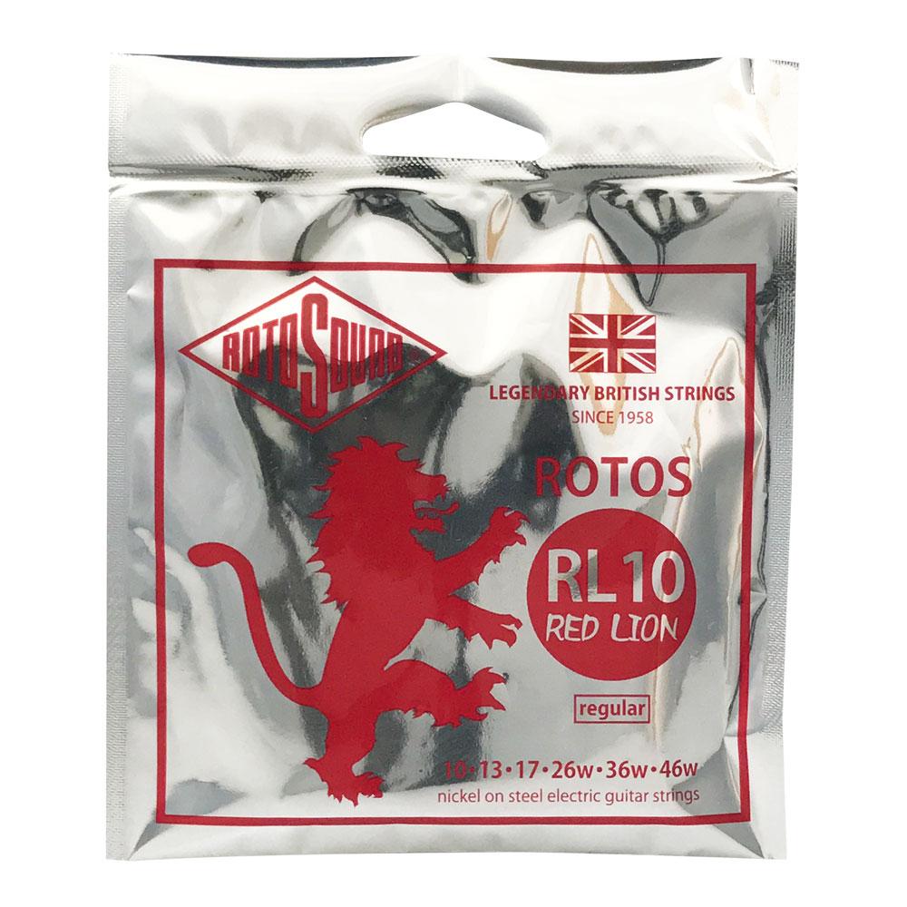 ロトサウンド レッドライオン 10.13.17.26w.36w.46w ROTOSOUND ROT-RL10 入荷予定 10-46 RED エレキギター弦×12セット 正規店 LION RL10