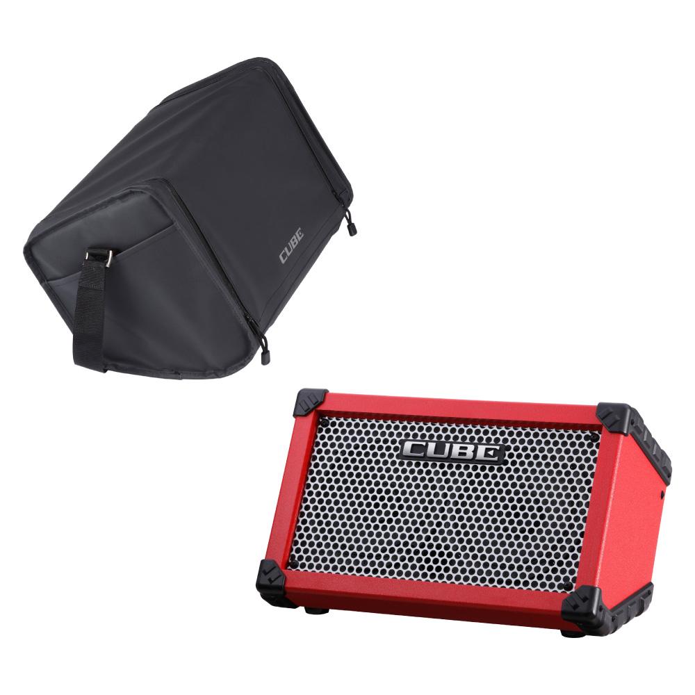 ROLAND CUBE Street RED 乾電池駆動可能ギターコンボアンプ キャリングバッグセット