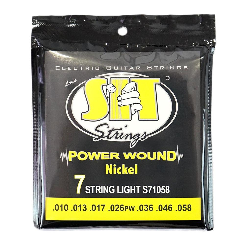 SIT STRINGS S7-1058 7 STRING LIGHT 7弦用エレキギター弦×12SET