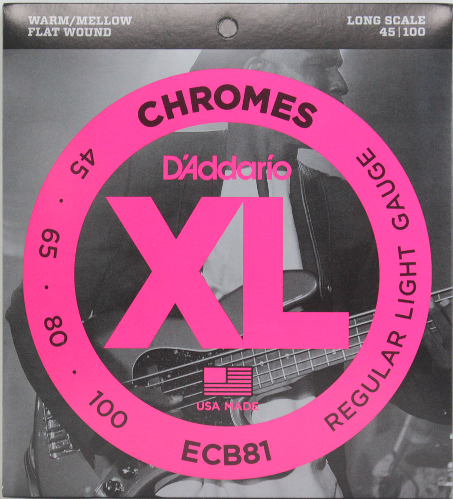 D'Addario ECB81×2SET フラットワウンド エレキベース弦