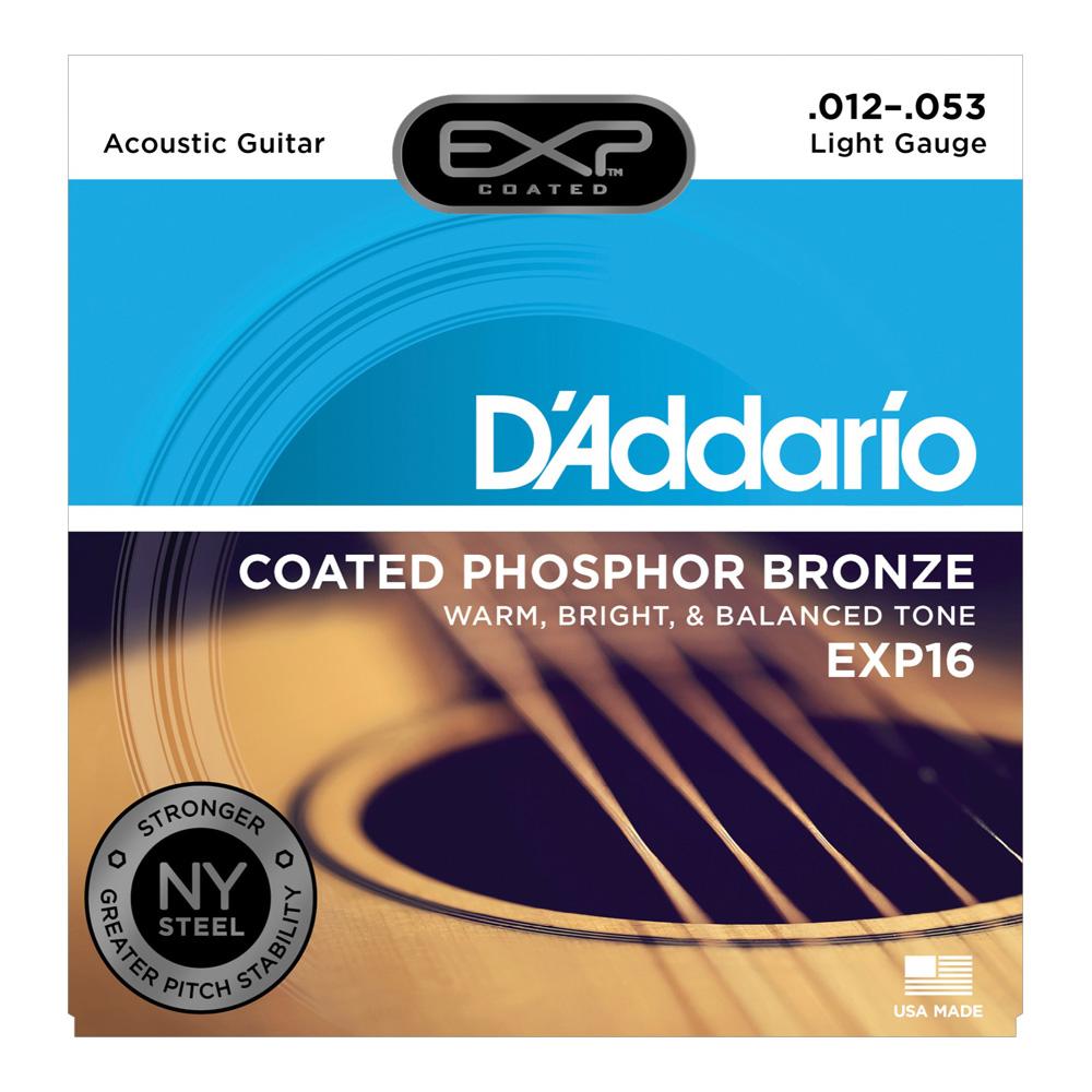 D'Addario EXP16 Coated Phosphor Bronze Light×5SET アコースティックギター弦