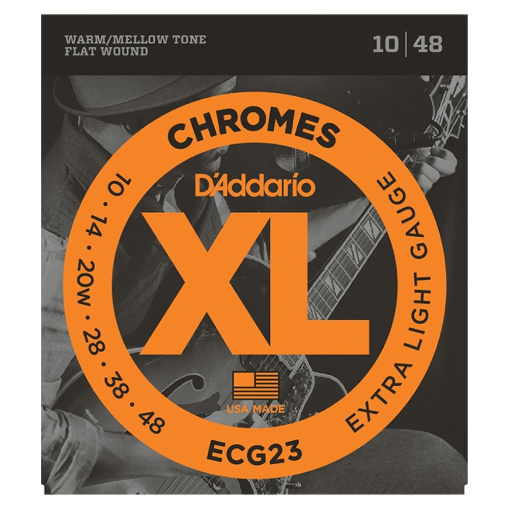D'Addario ECG23 フラットワウンド エレキギター弦×5セット