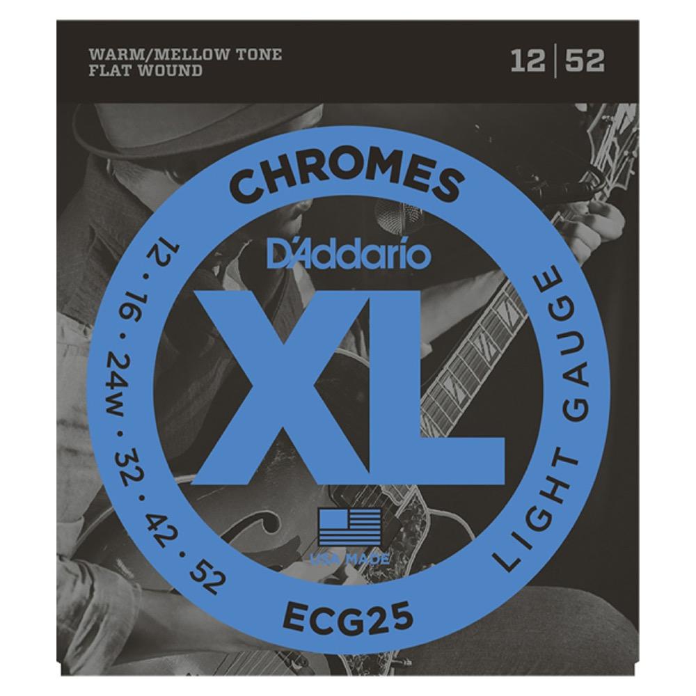 D'Addario ECG25 フラットワウンド エレキギター弦×5セット