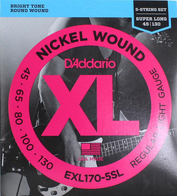 D'Addario EXL170-5SL×5SET 5弦ベース弦